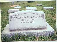 Sarah Frances Sallie <i>Daniel</i> Webb