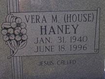 Vera M. <i>House</i> Haney