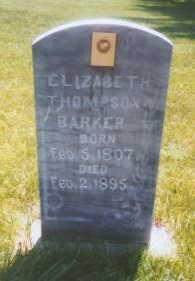 Elizabeth <i>Thompson</i> Barker