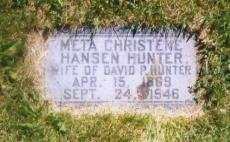 Meta Christene <i>Hansen</i> Hunter