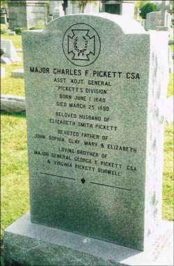 Maj Charles Francis Pickett