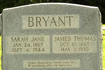 Sarah Jane <i>Bryant</i> Bryant