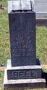 Martha Salina Mattie <i>Shelby</i> Bell