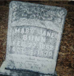 Mary Jane <i>Cole</i> Bunn