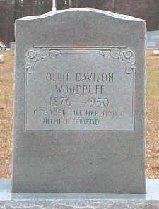 Nancy Olivia Ollie <i>Davidson</i> Woodruff