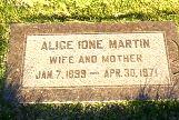 Alice Ione <i>Lanky</i> Martin