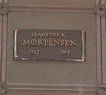 Jeanette Kathleen <i>Erickson</i> Mortensen