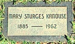 Mary <i>Sturges</i> Kanouse