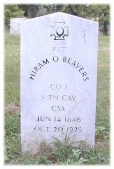 Pvt Hiram Oliver Beavers