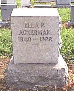 Ella Jane <i>Parthemore</i> Ackerman
