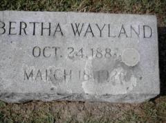 Bertha S Wayland