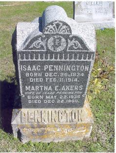 Martha Ellen <i>Akers</i> Pennington