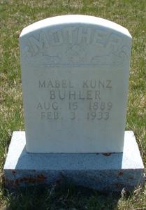 Mabel Christina <i>Kunz</i> Buhler