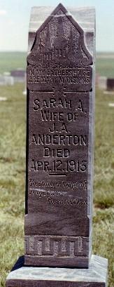 Sarah Ann <i>Davis</i> Anderton