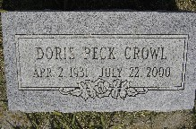 Doris Moreen <i>Crowl</i> Peck