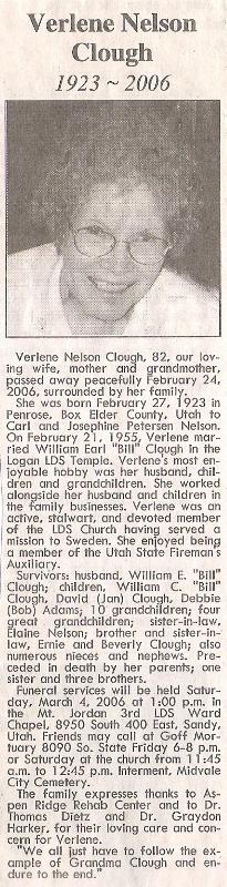 Verlene <i>Nelson</i> Clough