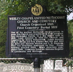 Wesley Chapel United Methodist Church and Cemetery