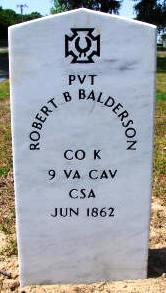 Pvt Robert B. Balderson