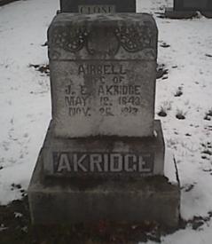 Nancy Aribell Airbell <i>Whitlow</i> Akridge