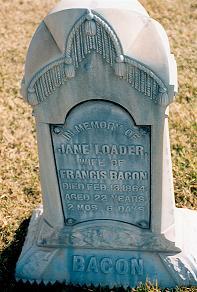 Jane <i>Loader</i> Bacon