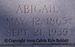 Abigail <i>Moore</i> Bazemore