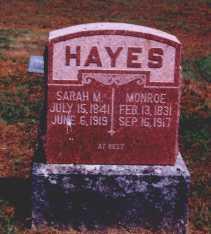 Sarah M <i>Hudson</i> Hayes