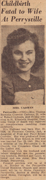 Thelma Berniece <i>Crowder</i> Cadman