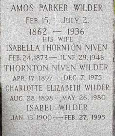 Isabella Thornton <i>Niven</i> Wilder