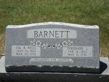 Ida B. Wells-Barnett's  grave.