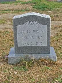Mattie Lucille Cil <i>Denton</i> Burgess