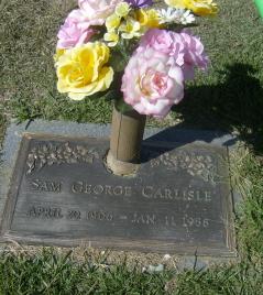 Sammy George Sam Carlisle