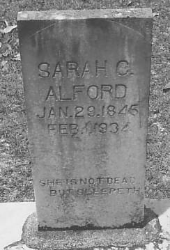 Sarah E. <i>Cousins</i> Alford