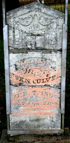 Mary <i>Sliter</i> Culver