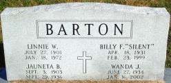 Billy F. (silent) Barton