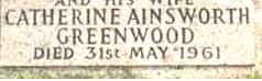 Catherine <i>Ainsworth</i> Greenwood