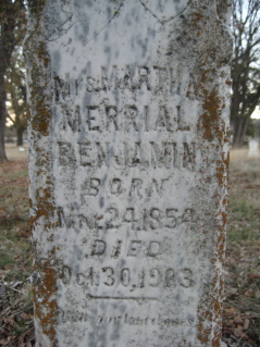 Martha Merrial <i>Edwards</i> Benjamin