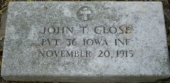 Pvt John Tobias Close