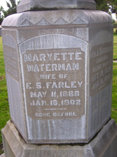 Maryette <i>Waterman</i> Farley