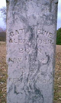 Catharine <i>Lewis</i> Alexander