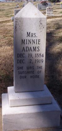 Minnie Agnes <i>King</i> Adams