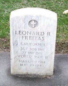 Sgt Leonard R. Freitas