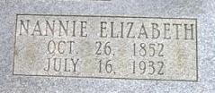 Nancy Elizabeth Nannie <i>Allen</i> Grounds