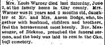 Charlotte Edith Lottie <i>Dodge</i> Warner