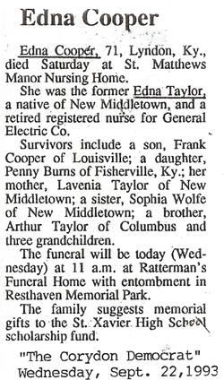 Edna Ruth <i>Taylor</i> Cooper
