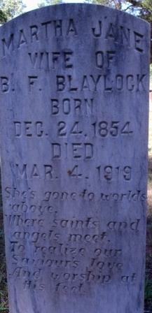 Martha Jane <i>Glenn</i> Blaylock
