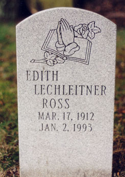 Edith <i>Lechleitner</i> Ross