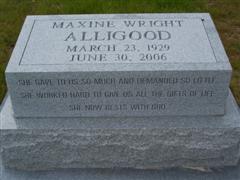 Maxine <i>Wright</i> Alligood