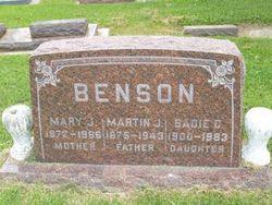 Sadie Cecilia <i>Benson</i> Becannon