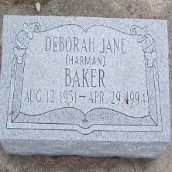 Deborah Jane <i>Harman</i> Baker