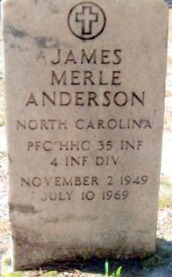 PFC James Merle Jim Anderson